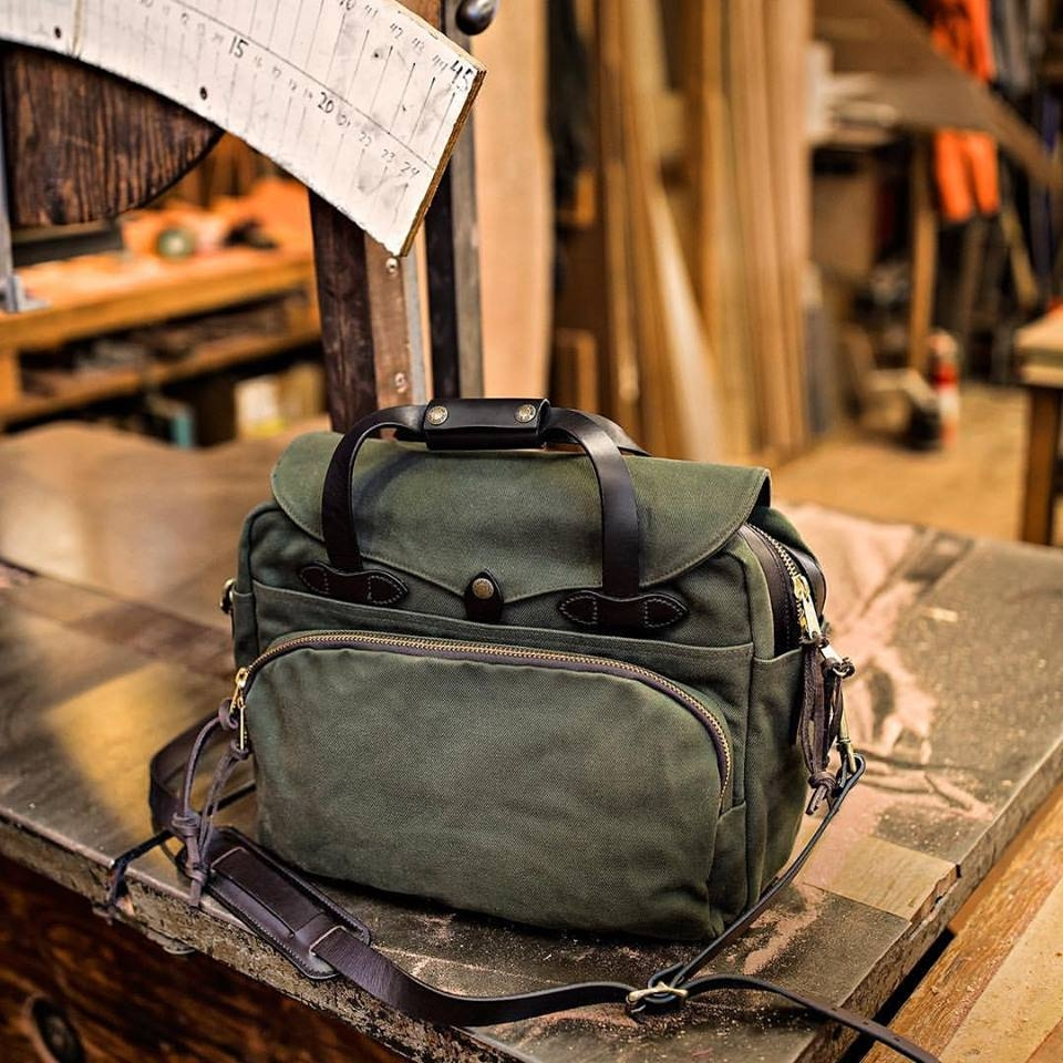 Filson Rugged Twill Padded Computer Bag - Otter Green