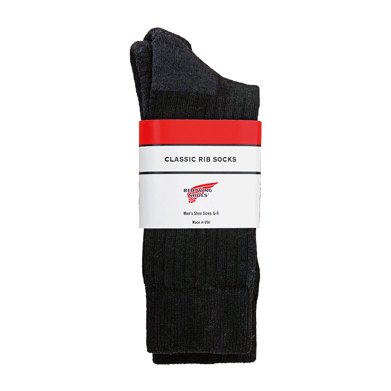 Red Wing Classic Crew Sock Black