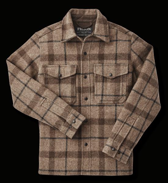 Filson Mackinaw Jac-Shirt - taupe/brown/black