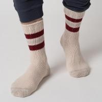 Merz b. Schwanen G.B. Socken - natur-dark red
