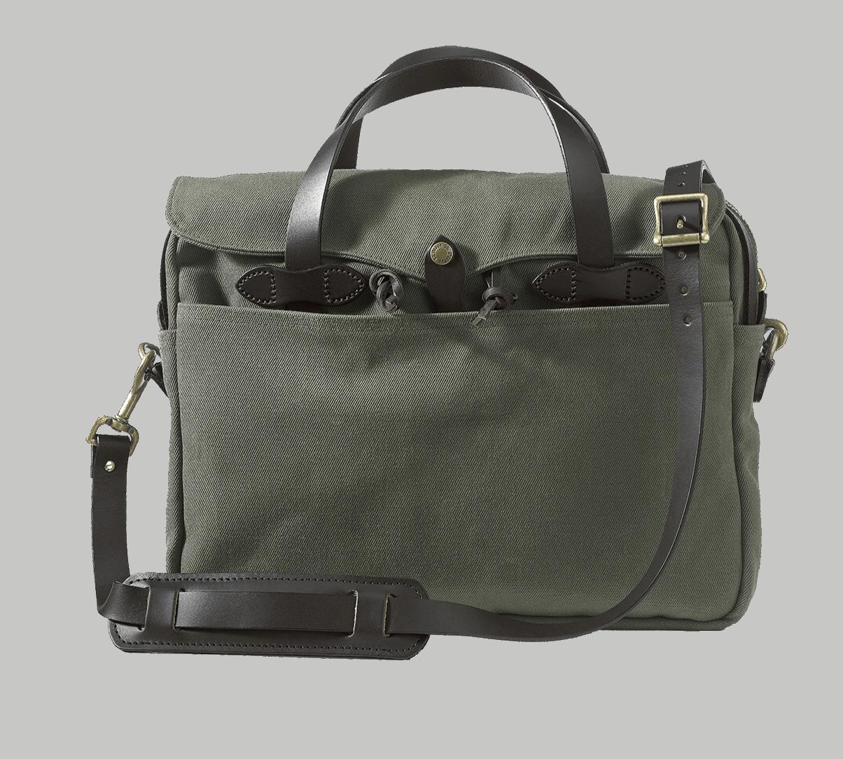 Filson Rugged Twill Original Briefcase - Otter Green