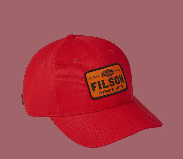 Filson Logger Denim Cap - Scarlet Red