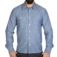 Pike Brothers 1937 Roamer Shirt Blue Chambrey