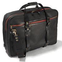 Croots Vintage Canvas Flight Bag - black