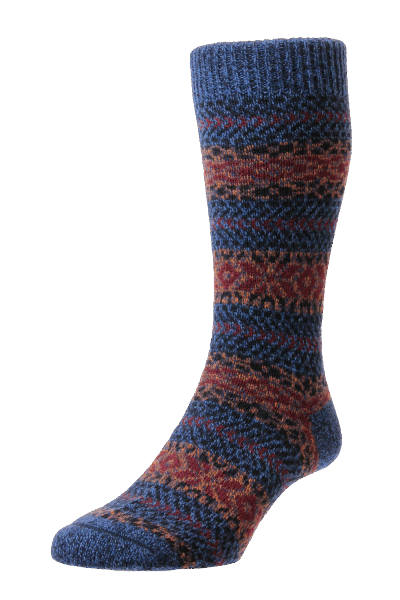 Scott Nichol Country Fairisle Stripe - denim