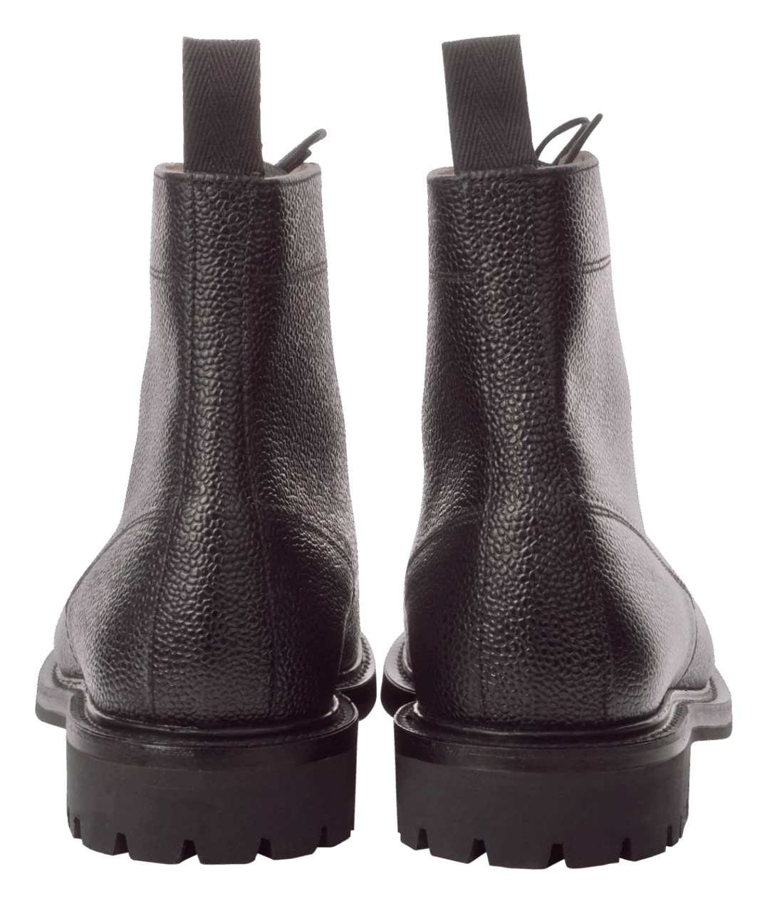 Sanders Kelso Grain Plain Derby Boot - black