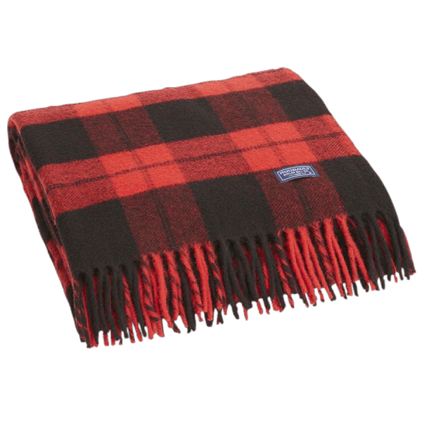 Faribault Buffalo Check Blanket Red / Black 125x180cm/ 50x72 inch