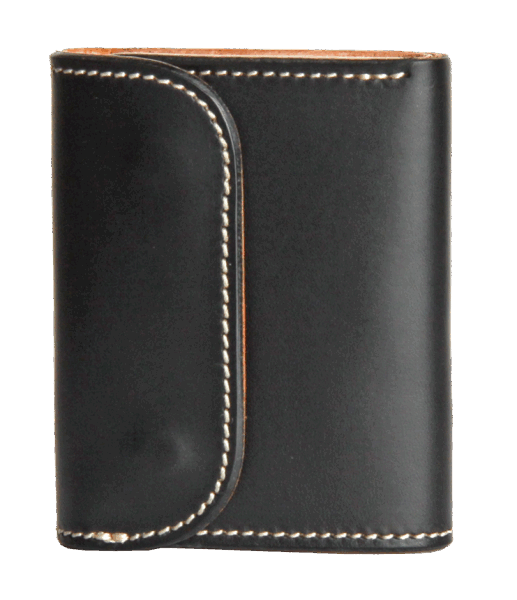 Opus Tri-fold Coin Wallet - black