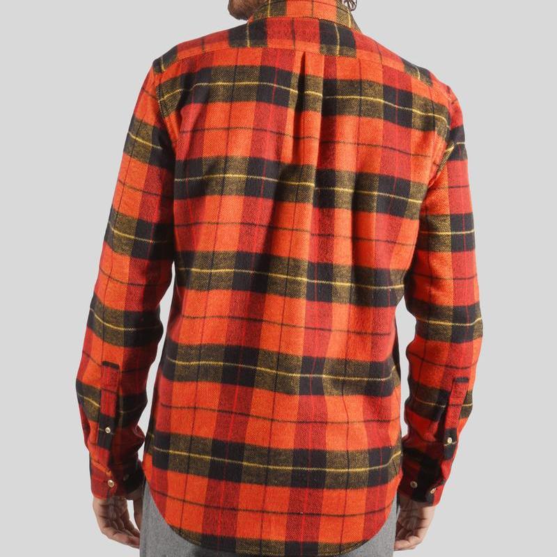 Portuguese Flannel Nebraska Shirt - Grapefruit