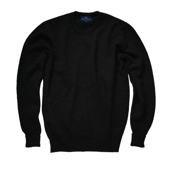 Peter Scott Roundneck Lambswool Pullover - charcoal