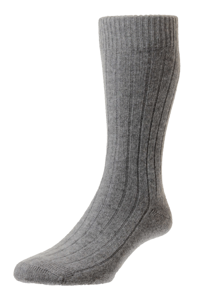 Pantherella Waddington - Cashmere - grey flannel