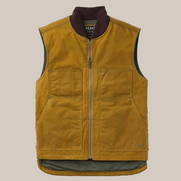 Filson Tin Cloth Insulated Work Vest - dark tan