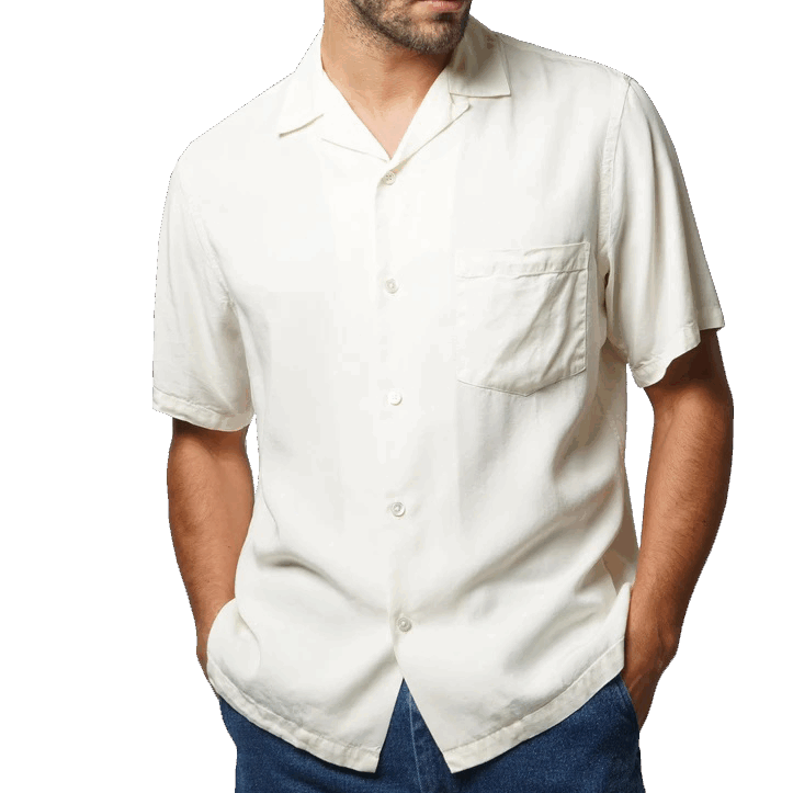 Portuguese Flannel Dogtown Shirt - off white