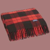 Faribault Buffalo Check Blanket Red / Black 125x180cm/ 50x72 inch
