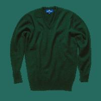 Peter Scott BRAEMAR V Neck Pullover Tartan Green