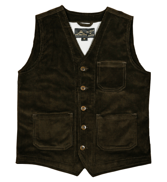 Pike Brothers 1937 Roamer Vest Cord Brown