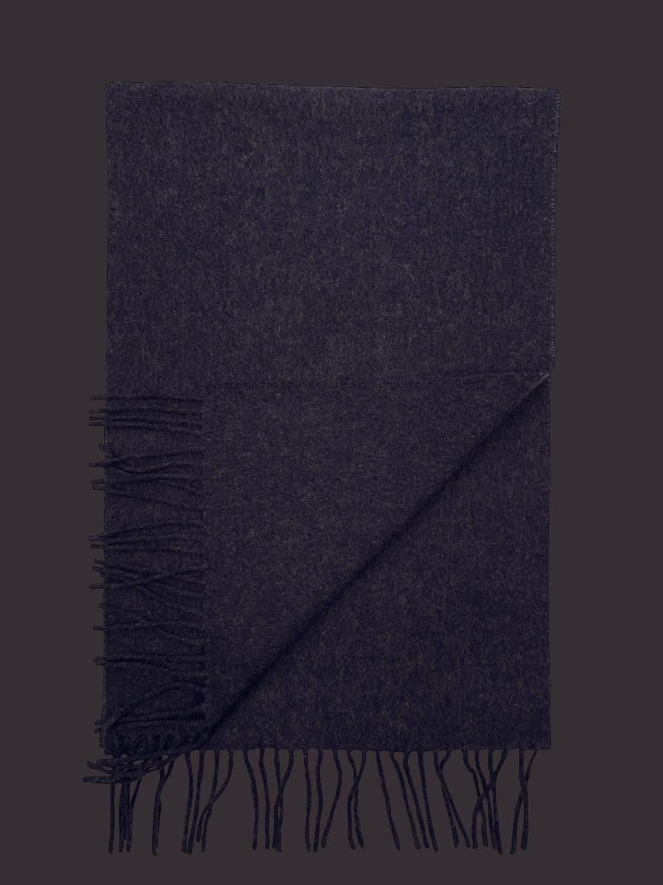 John Hanly Irish Wool Scarf - Navy