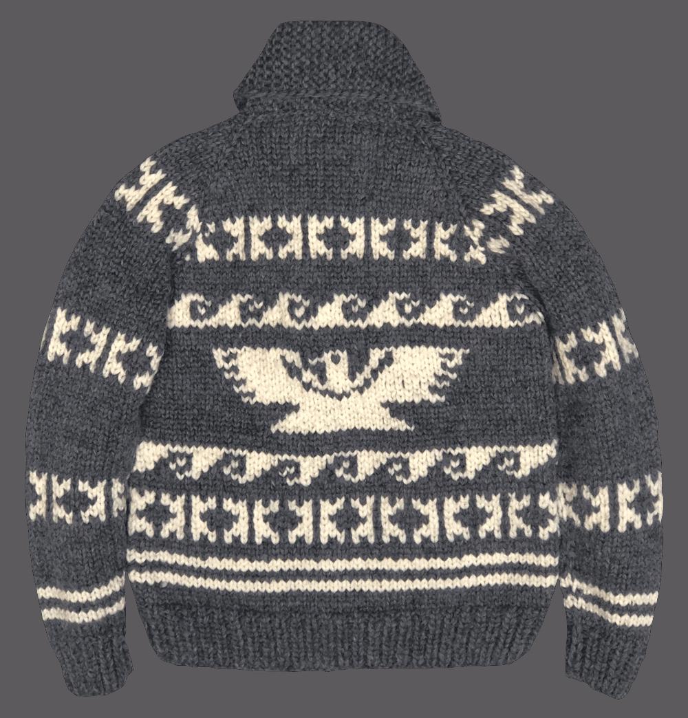 Kanata Wool Jacket - charcoal/ ecru