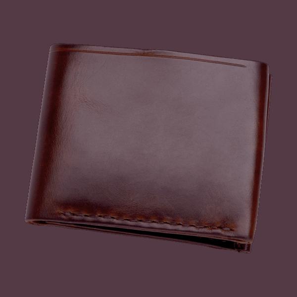Coronado Leather Horsehide 6 Card Wallet Burgundy