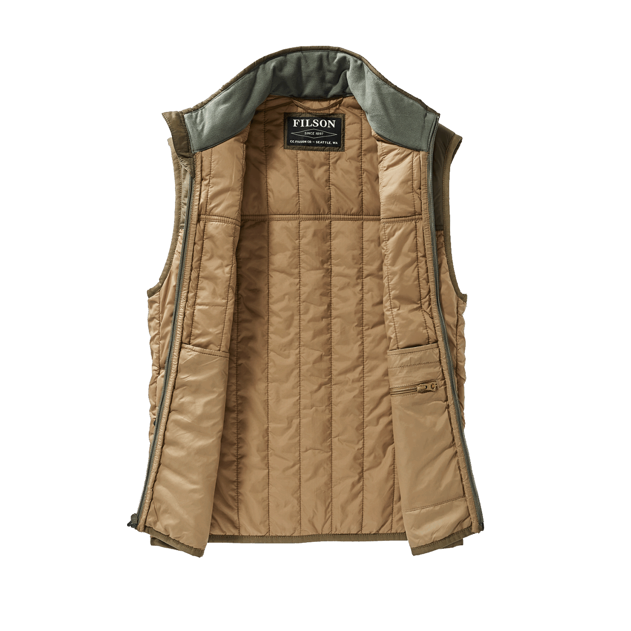 Filson Ultra Light Vest - dark tan