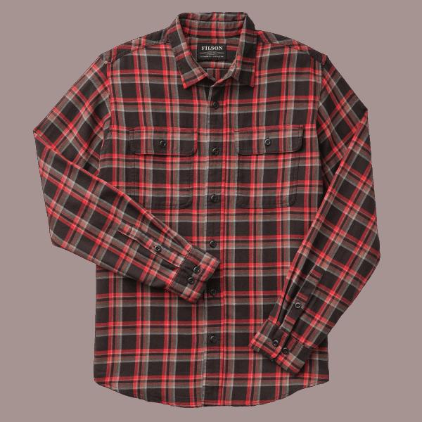 Filson Scout Shirt black-red-brown