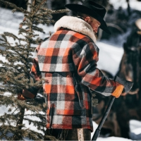 Filson - Lined Wool Packer Coat - Black Rust