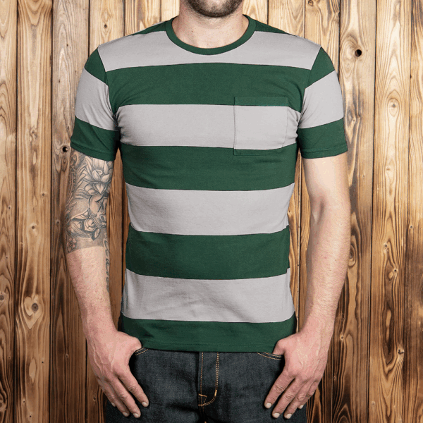 Pike Brothers 1964 Sports Tee green striped
