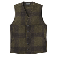 Filson Mackinaw Wool Vest - Forrest Green / Brown