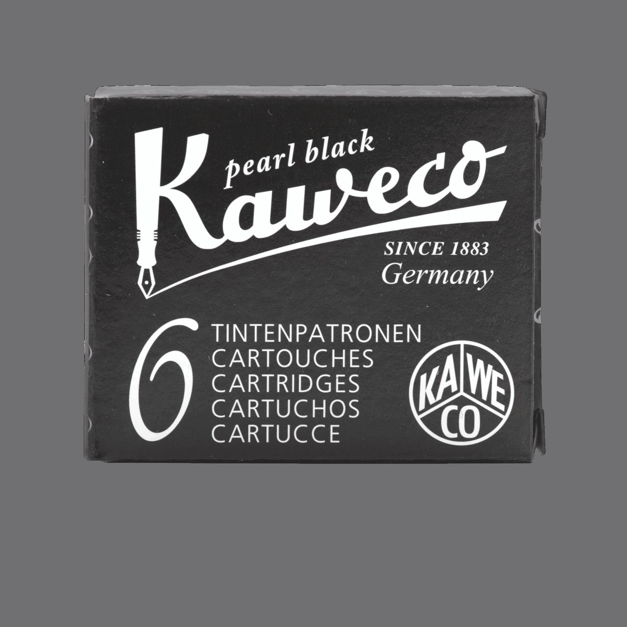 Kaweco Tintenpatronen 6 Stück - Perlen Schwarz