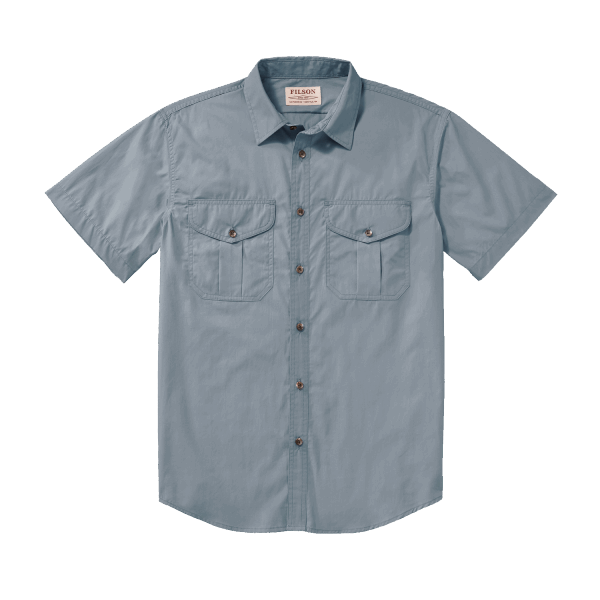 Filson Feather Cloth Shirt short - smoke blue