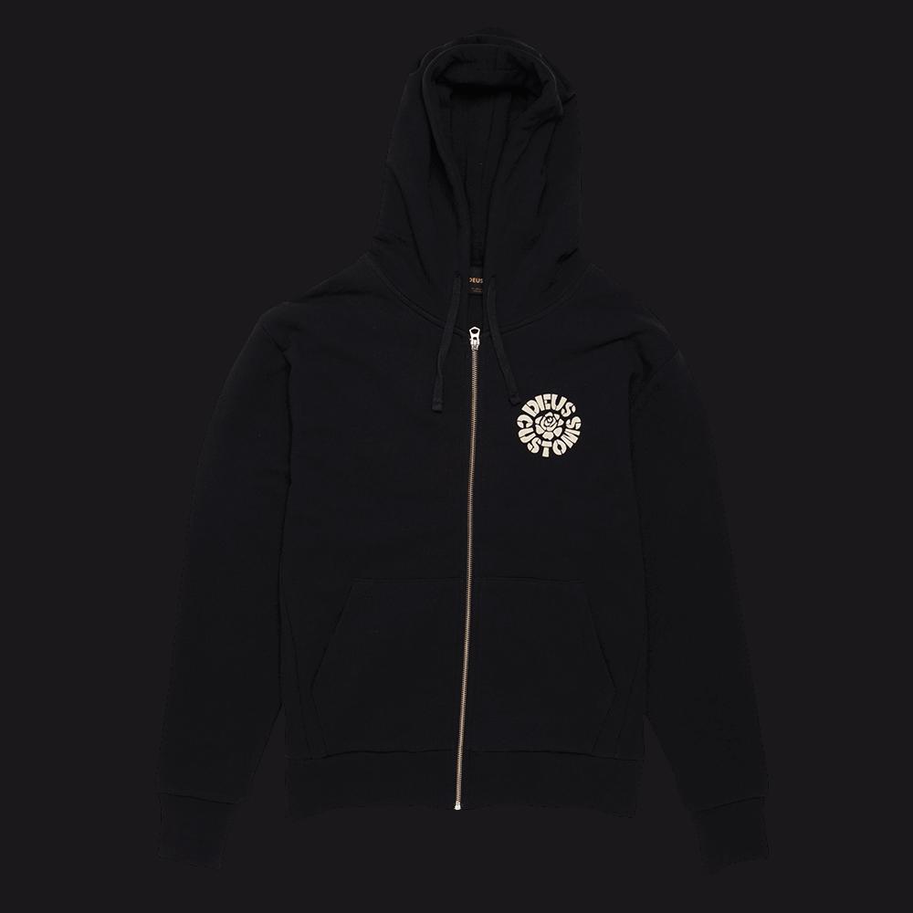 Deus Automatica Zip Hoodie - Black