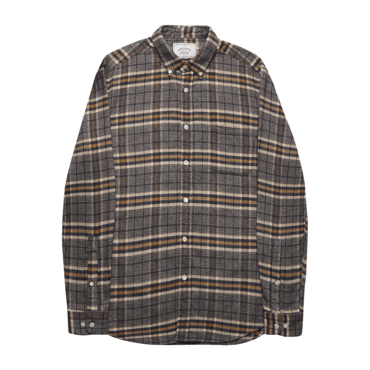 Portuguese Flannel Bibliotec Shirt - Grey