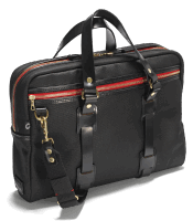 Croots Vintage Waxed Laptop Bag - black