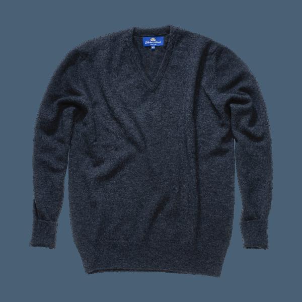 Peter Scott BRAEMAR V- Neck Pullover Charcoal