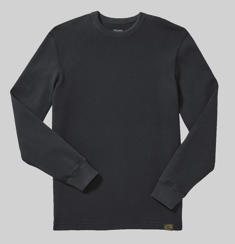 Filson Waffle Knit Thermal Crew Shirt-navy