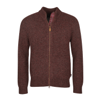Barbour Calder Knitted Zip - winter red
