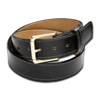 "CORONADO LEATHER 1 1/2"" HORSEHIDE BELT - BLACK"