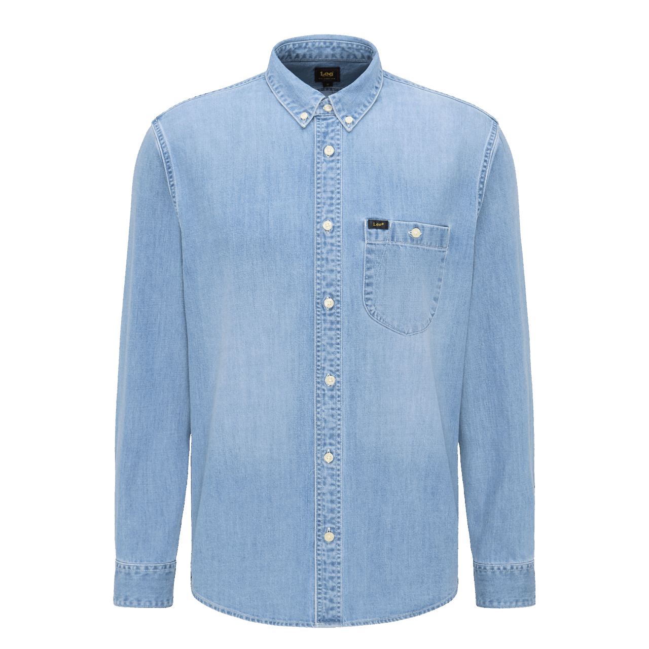 LEE Button Down Denim Shirt - Frost Blue