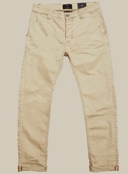 BLUE DE GENES Paulo Pavia Enzyme Trousers - Warm Sand