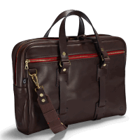 Croots Vintage Leather Laptop Bag - dark brown
