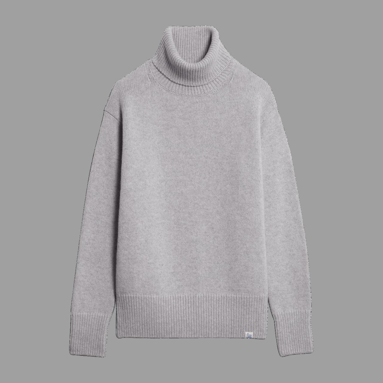 Merz b. Rollkragen Pullover - grey melange