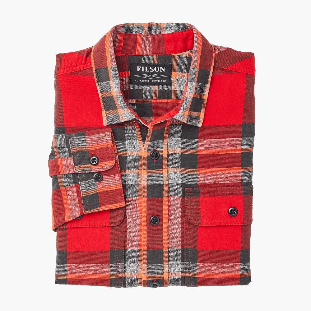 Filson Scout Shirt Shirt red-black-flame