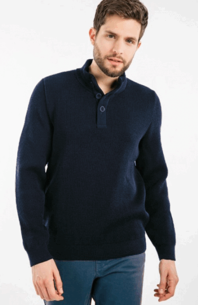 Saint James BOURBOULE Pullover - Navy