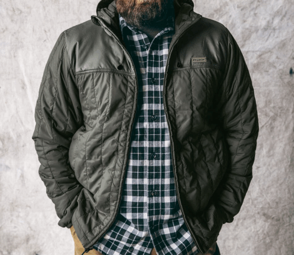 Filson Ultra Light Hooded Jacket - olivegray