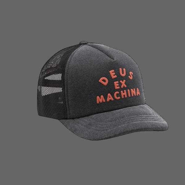 Deus Roller Trucker Cap - phantom black
