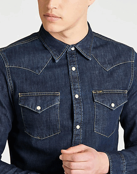 LEE Western Shirt - blueprint