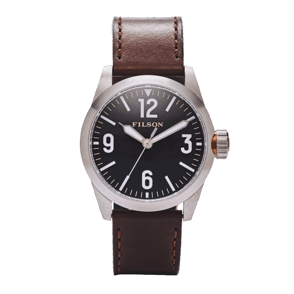Filson Field Watch - brown/black