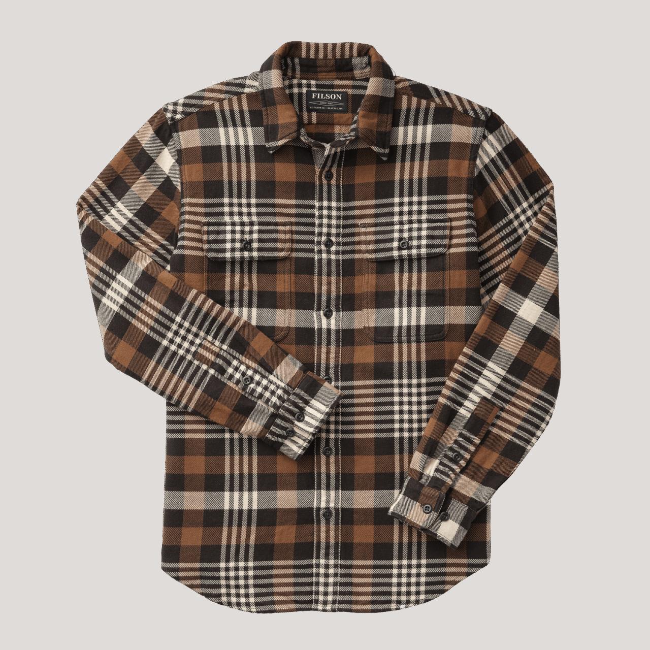 Filson Vintage Flannel Work Shirt - black/brown/cream