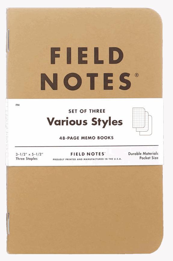 Field Notes Original Kraft - Various Styles