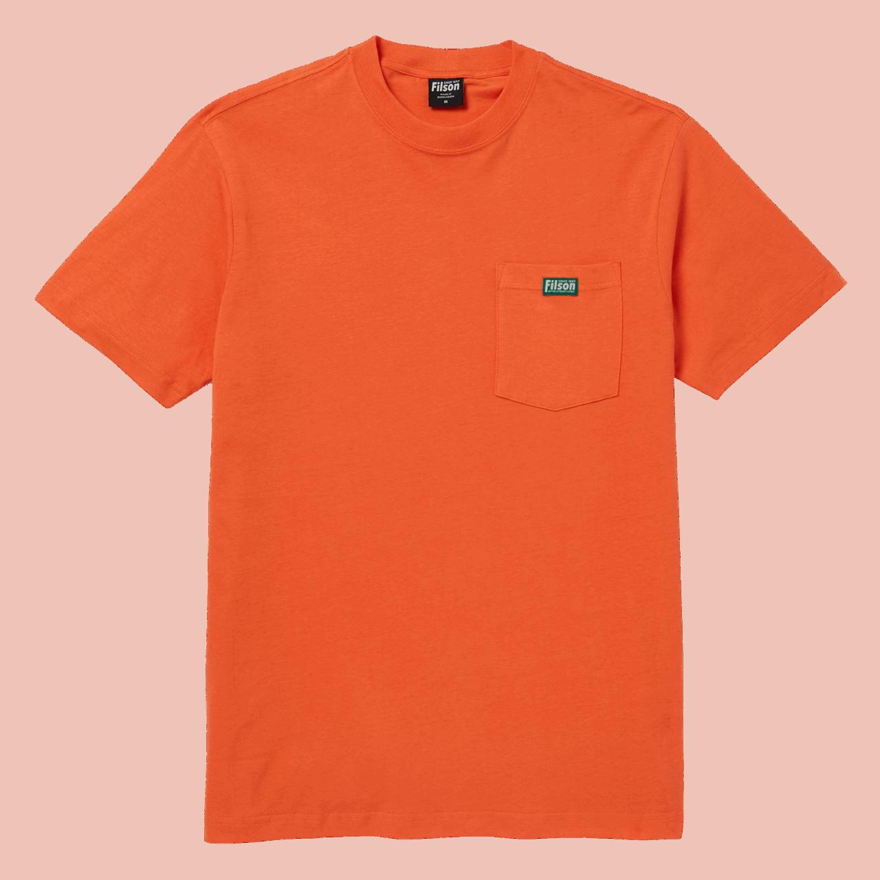 Filson Ranger Solid One Pocket T-Shirt - blaze orange